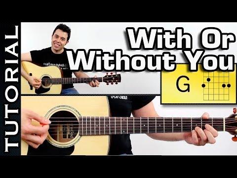 Como tocar U2 - With Or Without You en guitarra