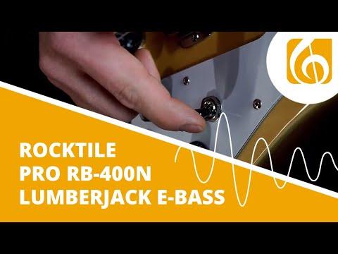 Rocktile Pro RB-400N Lumberjack E-Bass natur