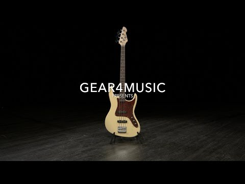 Louisiana Bass Guitar by Gear4music, Ivory | Gear4music demo