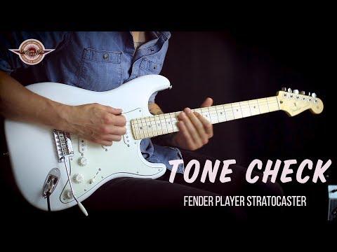 TONE CHECK: Fender Player Series Stratocaster Demo | No Talking