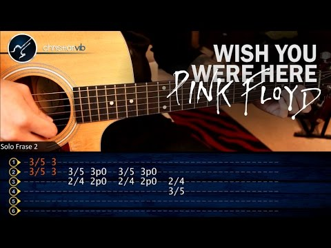 Como tocar Wish You Were Here PINK FLOYD en guitarra | Parte 1 Solo