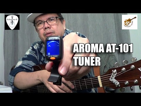 Guitar Tuner Demo Review - Aroma AT101 Chromatic Tuner