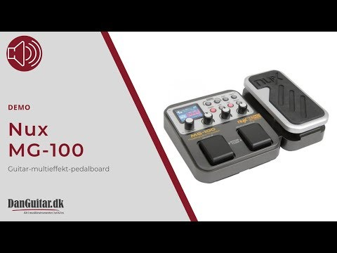 Nux MG-100 Kompakt Guitar Multieffekt Pedalboard fra DanGuitar.dk