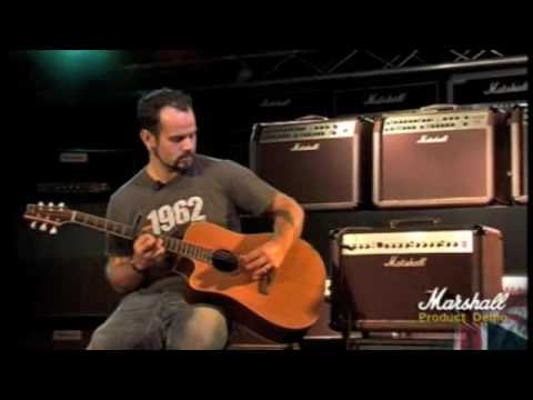 Marshall AS50D Acoustic Amplifier Demo - PMT