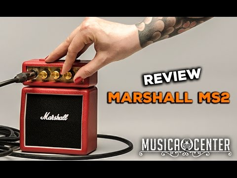 Teste Mini Amplificador Marshall MS-2C MS-2R MS2 - Musica Center