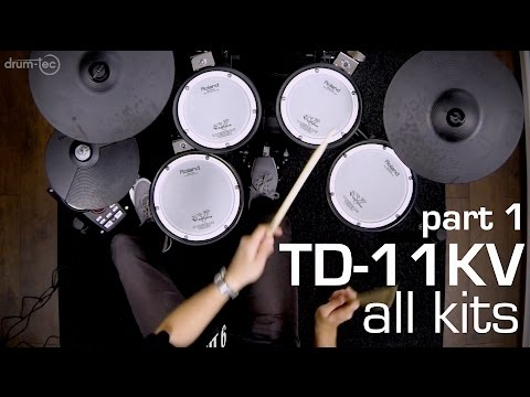 drum-tec presents: Playing all kits of the Roland TD-11KV electronic drum kit (PART 1/2)