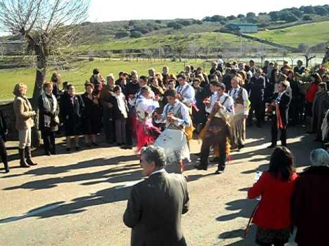 San Antón 2012 en Peloche. Danzantes