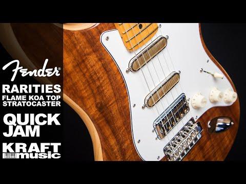 Fender Rarities Flame Koa Top Strat - Quick Jam