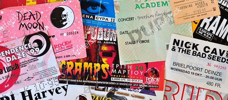 Vender entradas de conciertos