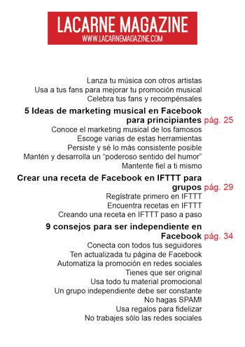 Consejos de facebook para musicos