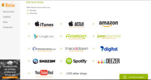 vender musica en Internet