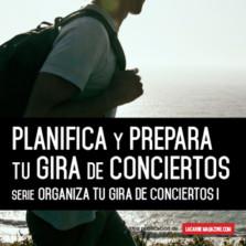 Planifica y prepara tu gira de conciertos