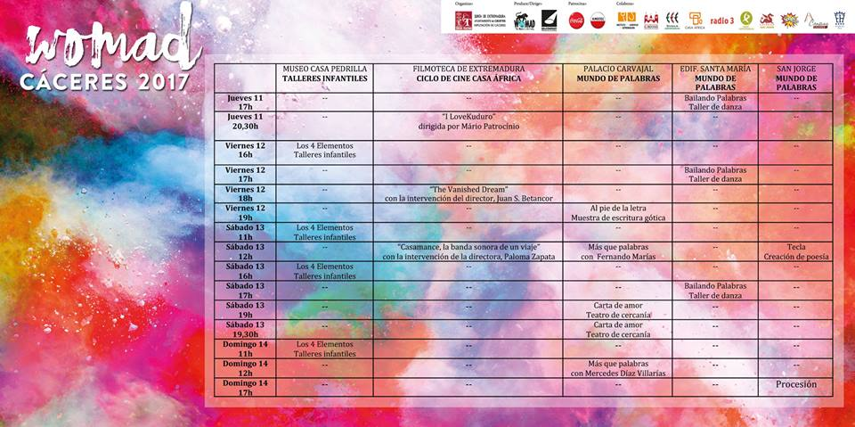 womad horarios
